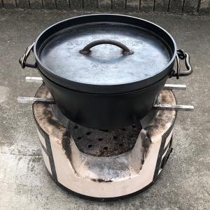 我が家のキャンプ道具紹介「かまど七輪」~焚火も、BBQもダッチオーブン料理もできる七輪~