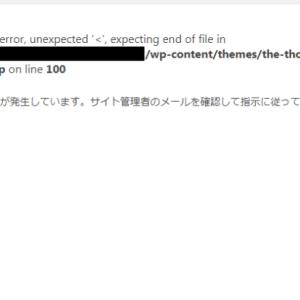 function.phpを編集したらサイトが壊れた!?エラーでwordpressが開かない時の対処法