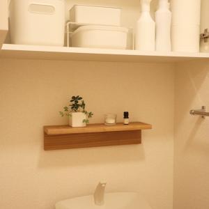 スッキリ使いやすいトイレの収納。