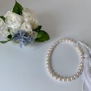 あこや真珠7.5mm念珠をお買い上げいただきました。