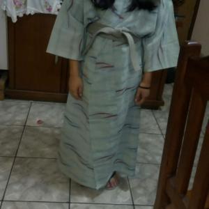 日本人会のバザーで着物を見つけた!