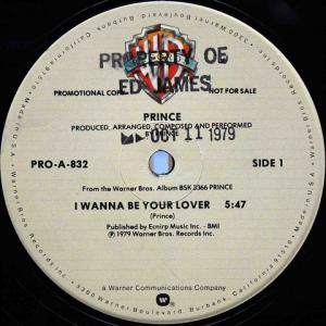 Prince / I Wanna Be Your Lover (US Promno 12`Special Disco Version) 79