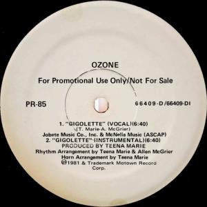 Ozone / Gigolette (US Promo 12`Special Long Version) 81