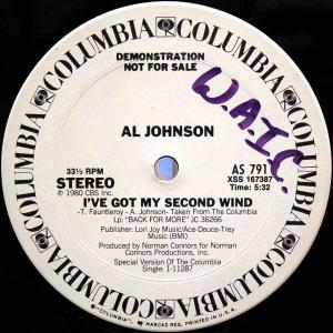 Al Johnson / I've Got My Second Wind (US Promo 12`Special Disco Version) 80