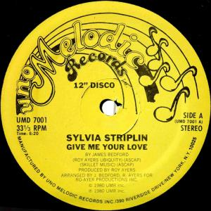 Sylvia Striplin / Give Me Your Love (US 12`Special Disco Version) 80
