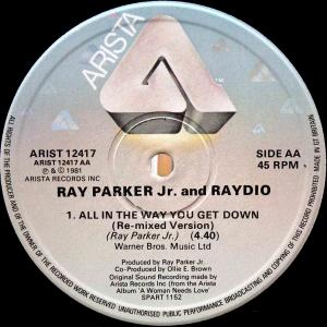 Ray Parker Jr. & Raydio / All In The Way You Get Down (UK 12`Re-mixed Version) 81