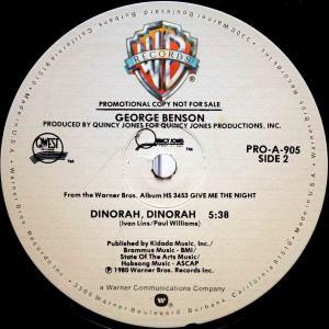 """George Benson / Dinorah, Dinorah 喝采 (US Promo 12"""" Special Long Version) 80"""