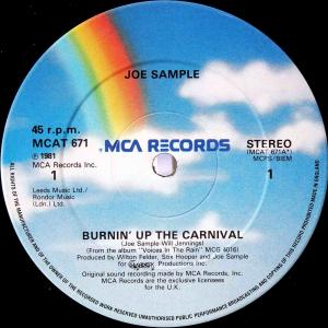 Joe Sample / Burnin' Up The Carnival (UK 12`Special Disco Mix) 81