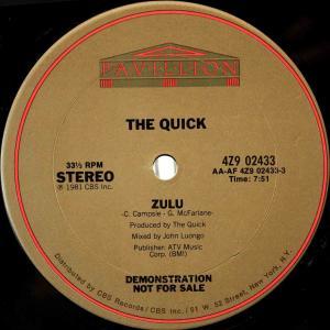 The Quick / Zulu (US Promo 12`John Luongo Instrumental Remix) 81