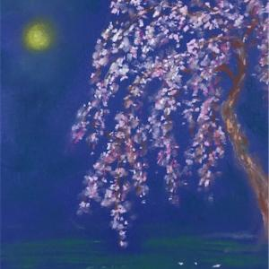 桜(西行)*パステル画