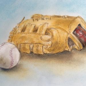 野球のグローブ*パステル画