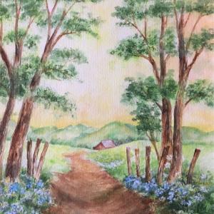 「恋人の小径」(スーザン・シーウィ水彩画)