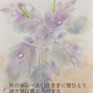 紫蘇(良寛)*パステル画