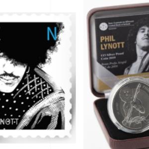シンリジー/フィル・ライノットの記念切手と記念硬貨