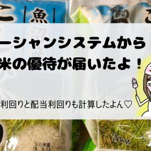 オーシャンシステム(TYO:3096)株主優待のお米3kgが届いたよ!優待・配当利回りも調べました。【2019年度版】