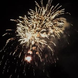 ハワイ ヒルトンの花火にやっと行けました!花火はいいね!