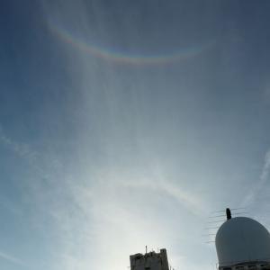 環天頂アーク(逆さ虹)