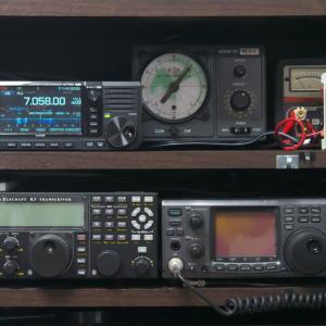 【IC-705】無線機棚への設置完了