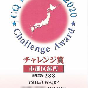 CQ誌チャレンジアワード受領