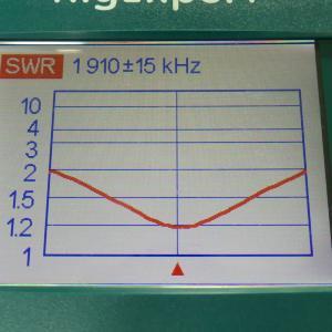 3.5MHzホイップの1.9MHz化 その1