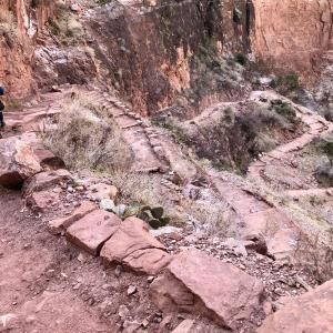 ファントム・ランチに泊まる旅:グランドキャニオン国立公園 ④ ブライト・エンジェル・トレイル 1️⃣ インディアン・ガーデンへ
