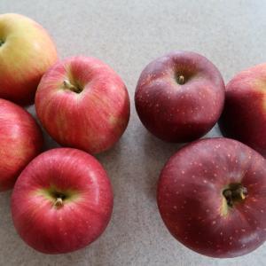 【りんご日記】シナノスイート、秋映え ビーツとピンクのサラダ