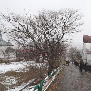 久しぶり、しっとり雪の元町散歩