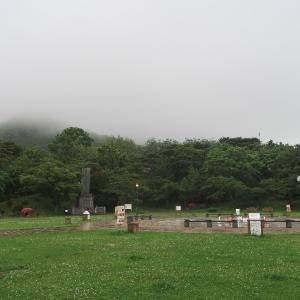 函館山はすっぽり霧のベールの中
