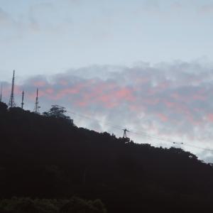 一瞬のときめき、函館山の夕焼け雲