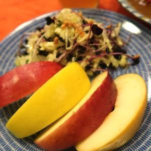 秋中盤のりんご、いろいろ食べてます