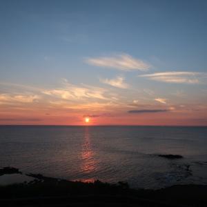 江差のかもめ島で海と夕日を満喫