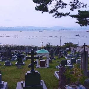 外国人墓地の夕暮れと函館ネコ歩き