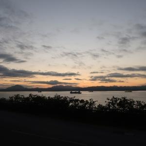 入船町~穴澗海岸で鳥肌ものの夕焼け