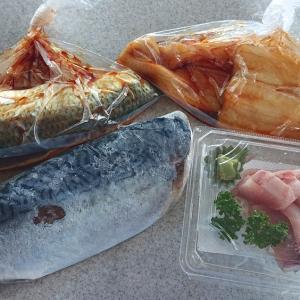 夕方の和田鮮魚店で青魚を買って