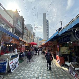 【釜山市場】海雲台伝統市場を散歩!