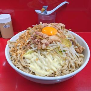 【伝説】ラーメン二郎越谷店 麺増し大小で頂く人気限定メニュー•塩汁なし!