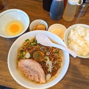 【絶品】男気らーめんアカギ 昼営業で辛痺担々麺とまぜそばをW注文で堪能!