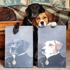 ペットの写真をお城に飾るような高貴な写真にした結果wwwwww