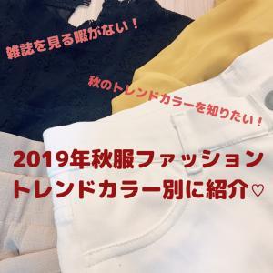【2019年秋服コーデ】これで安心!トレンドカラー別ファッション