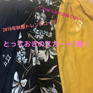 【2019年秋服トレンドコーデ】とっておきのスカート7選!