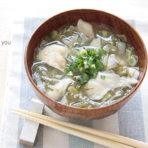 【掲載レシピ】マイタケとめかぶのさっぱりお味噌汁