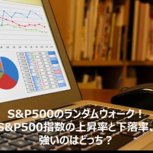 S&P500のランダムウォーク!S&P500指数の上昇率と下落率、強いのはどっち?