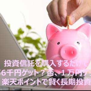 投信購入で毎年6千円ゲット?否、1万円! 楽天ポイントで賢く投資