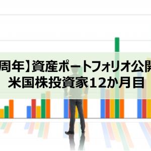 【1周年】資産ポートフォリオ公開!米国株投資家12か月目