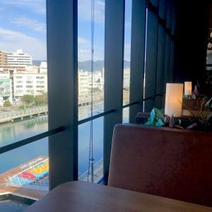 神戸のみなと散策⑤〜景色のいい窓辺でうどんをすする!〜