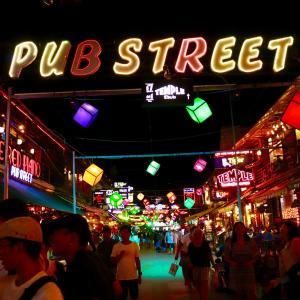 カンボジアの夜はPUB STREETで!