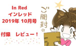 In Red インレッド 2019年 10月号  ナノ・ユニバース 絶妙サイズのボストンバッグ 付録 レビュー