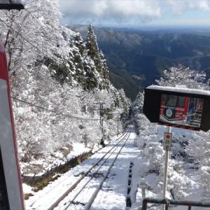 御岳山とJR相鉄直通線(3) 御岳登山鉄道 御岳山駅 ~雪被る木々の中を抜ける~
