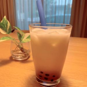 おうちカフェ♡タピオカ黒糖ラテ