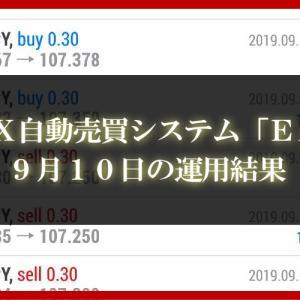 【XM EA】9月10日【FX自動売買】